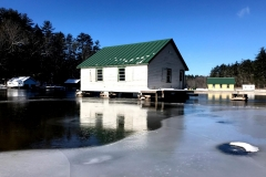 Boat Houses in Winter